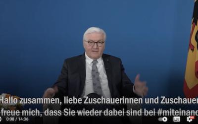 Mit Bundespräsident Steinmeier im Gespräch über Trauer in Zeiten der Pandemie